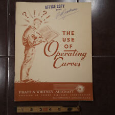 """19945 Pratt & Whitney """"The Use of Operating Curves"""" Booklet"""