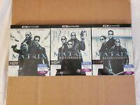The Matrix Trilogy: w/Slipcovers (4K Ultra HD & Blu-ray) No Codes