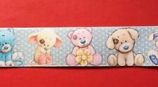 BABY ANIMALS Grosgrain Ribbon 1 Metre X 25mm For Craft Hair Gifts Cakes Sewing