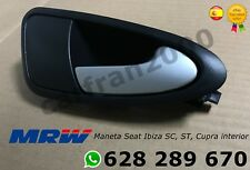 Maneta interior Seat Ibiza 6J 2008 - 2017 delantera derecha PLATA SATINADO