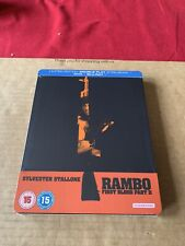 RAMBO: FIRST BLOOD Part 2 Blu Ray Steelbook NEW & SEALED Rare Zavvi 1st Release