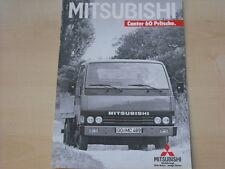 53977) Mitsubishi Canter 60 Pritsche Prospekt 12/1986