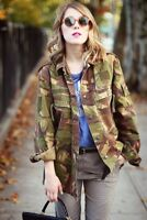 LADIES JACKET SHIRT DUTCH SURPLUS ARMY MILITARY CAMOUFLAGE CAMO VINTAGE DPM