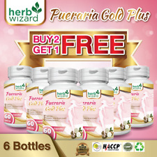 6 x BOTTLES PUERARIA MIRIFICA 5500mg BUST FIRMING BREAST ENLARGEMENT CAPSULES