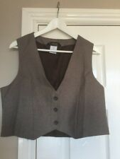 BNWOT Alexandra CL12 Woman's  Brown/beige Tweed Waistcoat size 16