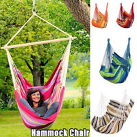 Hanging Hammock Chair Portable Garden Swing Seat Tree Travel Camping Poly