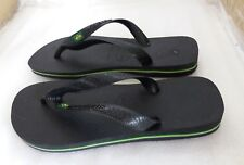 Havaianas Brasil Logo Unisex Footwear Sandals - Black - UK 3/4 EU 35/36