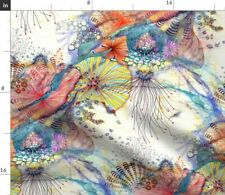 Sea Blue Coral Beach Sun Science Nautical Spoonflower Fabric by the Yard
