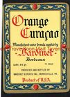 1940s PENNSYLVANIA Morrisville BARDINET ORANGE CURAÇAO Label Set