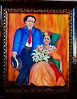 Diego Rivera /Frida Kahlo Painting with Wood Frame by Artist, Lois F. Rivera