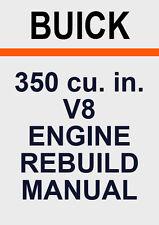 BUICK 350 V8 ENGINE REBUILD MANUAL