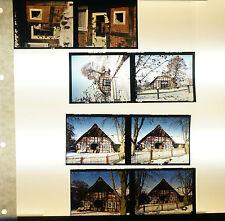 """Dias Dia Mittelformat 7x6 cm - 8 x """"Haus im Schnee"""" - B2448"""