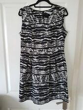 Ladies Red Herring Black and White Dress - Size UK 16 - excellent condition