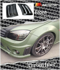 Carbon Fiber Front Bumper Side Vent Insert Cover for 08-12 Mercedes W204 C63 AMG