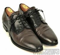 ALEXANDER MCQUEEN Solid Brown Black Leather Mens Dress Shoes BOX - EU 42 / US 9