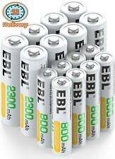 Ebl 16Pcs Ni-Mh Aa Aaa Rechargable Batteries Combo (8 X 2300Mah Aa Batteries And