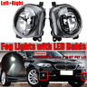 Pair Front LED Fog Light Lamp W/ Bulds For BMW 5 Series F10 GT F07 LCI NEW!!