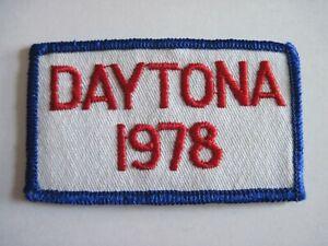 Vintage Embroidered Patch Daytona 1978 -  NOS -  FREE SHIP US