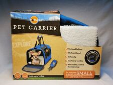 World Pet Carrier Tote Bag small dog/cat up to 16 lbs padded fleece Nob
