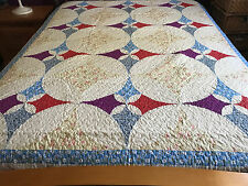 Spring  Sale Twin size machine pieced Patchwork quilt #J-22