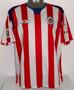 REEBOK CHIVAS GDL LIBERTADORES FINAL BRAVO 2004 M ORIGINAL SOCCER JERSEY SHIRT
