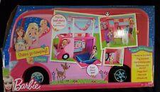 Barbie Sisters Go Camping Pop Up Pink Camper Rv Van Mattel