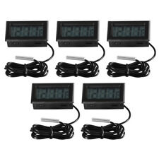 5pcs Temperature Gauge LCD Digital Thermometer Fridge Aquarium Fish Tank BI596