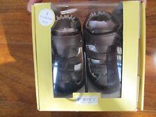 NEW Robeez Colorblock Sandals Mini Shoes infant Boys SZ 3 Brown Leather $36.00