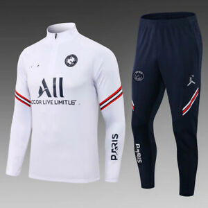 2021/2022 New Mens Real Soccer Training Jacket Tracksuit Sports Suit trousers