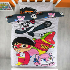 RYANS WORLD Bed Quilt Cover Set SINGLE Doona Cover Ryans Toy Combo Panda Gus