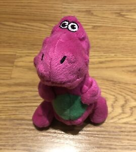 "goDog Chew Guard Pink Dinosaur Squeaky Chew Toy Small 5"" Plush *discontinued*"