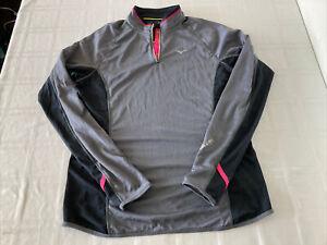 Mizuno Running Breath Thermo Womens Sz XL 1/4 Zip Pullover TS1
