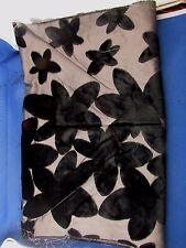 ancien coupon tissus  soierie et velours epoque art deco antique fabric noir 7