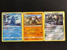 Pokemon : SM CELESTIAL STORM REGICE/REGIROCK/REGISTEEL LOT 45-80-96/168 RARE