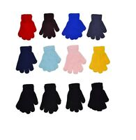 Children Warm Magic Gloves 12 Pairs Winter Stretch Gloves Boys Girls Knit Gloves