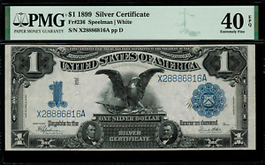 1899 $1 Silver Certificate FR-236 - Black Eagle - Graded PMG 40 EPQ