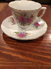 Fine Porcelain by Northridge Cup & Saucer Victorian Flowers Pattern