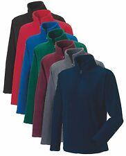 Russell 874M Mens Plain Quarter Half Zip Neck Warm Fleece