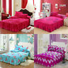Floral Bedspread Bed Skirt Cover Sheet Queen King Size / 2 Pillow Case Bed Decor