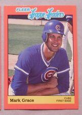 1989 Fleer League Leaders Mark Grace Cubs Baseball Card