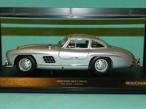 Minichamps 1/18 Mercedes Benz 300SL Silver 1955 Limited Edition MiB