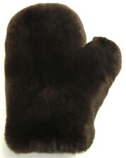 Handschuh Pelz Massage Rex Streichel Wellness Soft Fur Glove Kaffee Dk.Braun