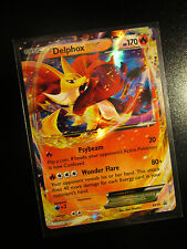 PL DELPHOX EX Pokemon Card PROMO Black Star XY19 Set Ultra Rare Kalos Power Tin