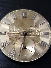 44mm Gold? Dial Swiss Pocket Watch Movement Gold? Wheel Running