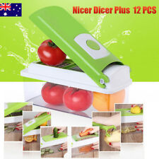 Premium 12in1 Fruit Vegetable Slicer Nicer Dicer Plus Food Chopper Cutter Peeler