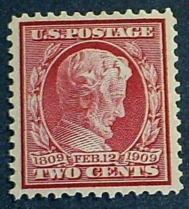 US Scott #369 Lincoln Tercentenary MNH OG VF Stamp SCV$300