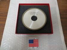 "5"" x 3/8"" x 1-1/4"" 4A2P Diamond Facing Grinding Wheel Dual Grit 280/500 Grit USA"