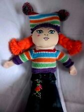 "Childrens Place Pals Doll Plush 13"" Stuffed Toy Redhead Striped Sweater"