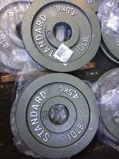 """NEW CAP CAST Iron Weight Plate 10lB X4 40lb Total Adjustable Dumbell Olympic 2"""""""