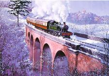 Great Western Railway BR 45xx Tank Engine Steam Train Christmas Xmas Card